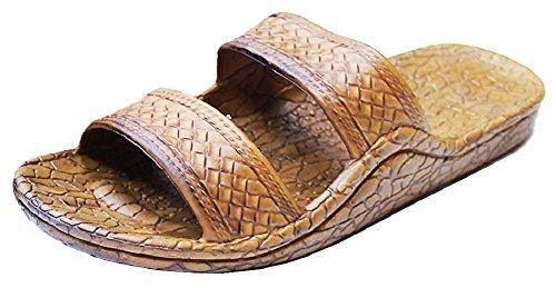 Pali Hawaii Unisex Adult Classic Jandal Sandal (Light Brown, 13)