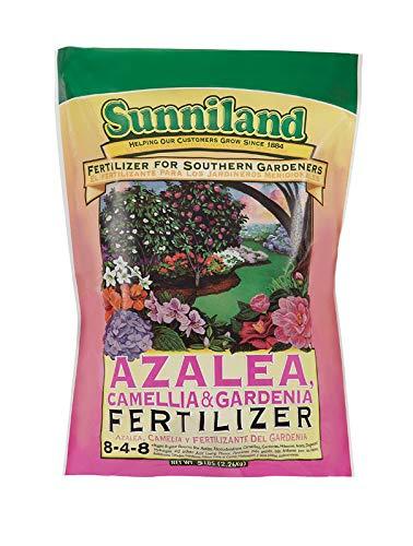 Sunniland Azalea , Camellia And Gardenia Fertilizer 8-4-8 Granules 5 Lb.