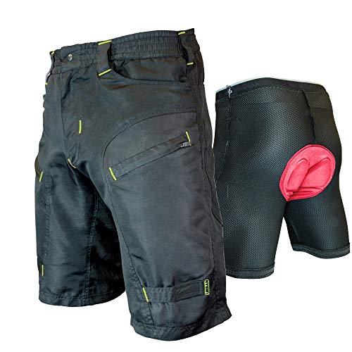 The Single Tracker-Mountain Bike Cargo Shorts, with Premium Antibacterial G-tex Padded Undershorts