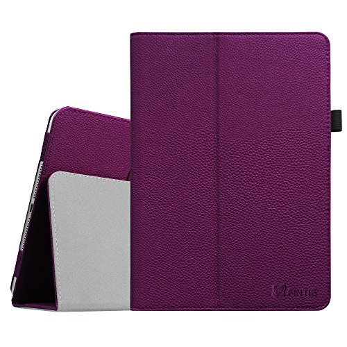 Fintie Folio Case for iPad Air 2 - Premium Vegan Leather Slim Fit Case Smart Stand Protective Cover Auto Sleep/Wake Feature for iPad Air 2, Purple