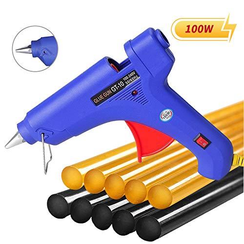 Manelord Glue Gun - 100W Hot Glue Gun with 10Pcs High Adhesion Hot Glue Sticks for Car Dent Repair, Home Improvement, Quick Daily Repair and DIY Small Craft Projects