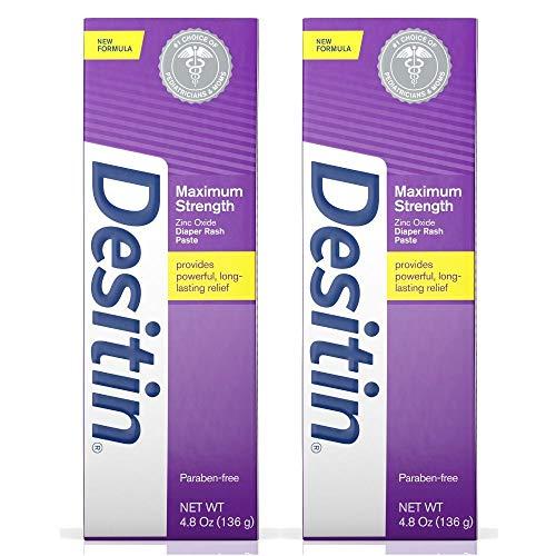 WSED Maximum Strength Baby Diaper Rash Cream with 40% Zinc Oxide for Diaper Rash Relief & Prevention (2 Pack)