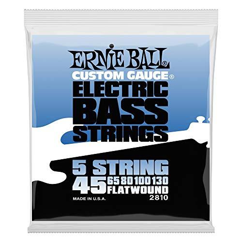 Ernie Ball Flatwound 5-string Bass Set, .045 - .130