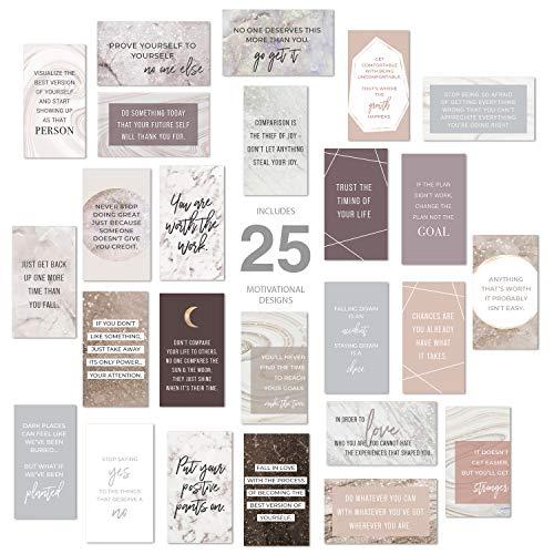 Marble Quartz Daily Gratitude Cards / 50 Motivational Kindness Cards/Inspirational Quote Cards