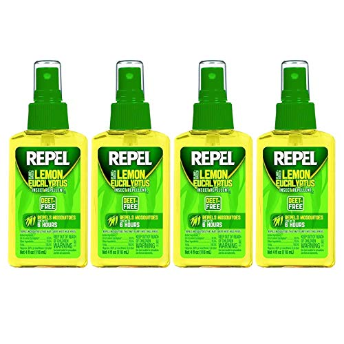 Repel Lemon Eucalyptus Natural Insect Repellent, 4-Ounce Pump Spray, Pack of 4