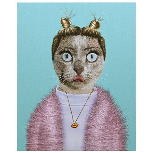 Empire Art Direct Pets Rock Twerk Graphic Wrapped Cat Canvas Wall Art, 20' x 16' x 2', Ready to Hang