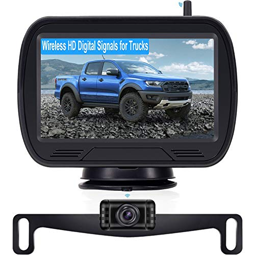 Wireless Backup Camera for Car, HD Hitch Rear View Camera with Monitor Kit with Stable Digital Signal Easy Installation for Truck Car Van SUV IP69K Waterproof-Rohent R11
