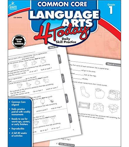 Carson Dellosa | Common Core Language Arts 4 Today Workbook | 1st Grade, 96pgs (Common Core 4 Today)