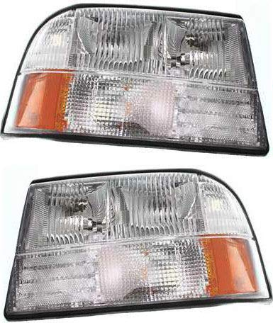 Headlight Assembly Compatible with GMC Sonoma Oldsmobile Halogen Passenger and Driver Side
