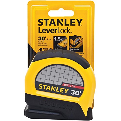 Stanley STHT30830 Lever Lock Tape Rule, 30' x 1'