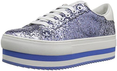 Marc Jacobs Women's Grand Platform Lace Up Sneaker, Blue/Multi, 37 M EU (7 US)