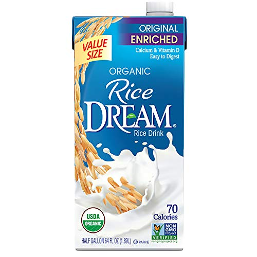 RICE DREAM Enriched Original Organic Rice Drink, 64 Fl Oz, Pack of 8