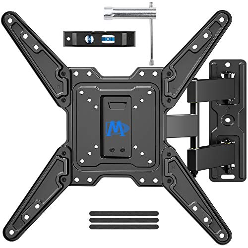 Mounting Dream Full Motion TV Wall Mount for Most 26-55 Inch TVs, Wall Mount for TV with Swivel Articulating Arms, Perfect Center Design TV Mounts Wall, up to VESA 400x400mm and 77 lbs. MD2413-MX