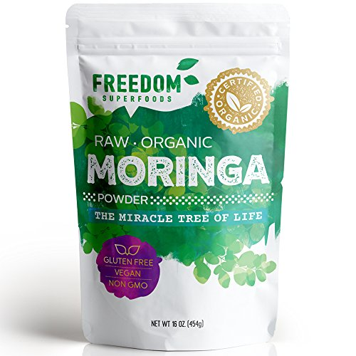 Moringa Powder - Pure Premium Raw Organic Oleifera Leaf - 1 lb