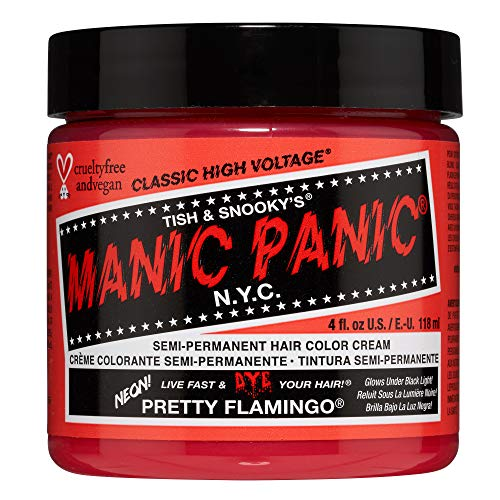 Manic Panic Pretty Flamingo Hair Dye - Warm Pink And Orange Semi Permanent Hair Color