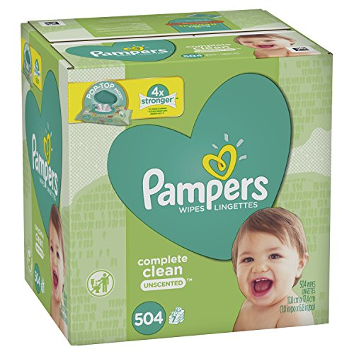 Pampers Baby Wipes Complete Clean Unscented 7X Pop-Top 504 Count