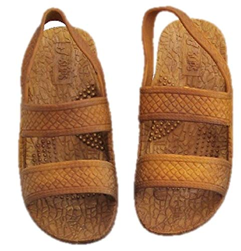 J-Slips Toddler Hawaiian Jesus Sandals w/Back Strap (Sand TDL 4/5)