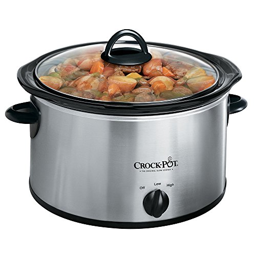 Crock-Pot 3040-BC 4-Quart Round Manual Slow Cooker, Stainless Steel