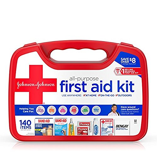 Johnson and Johnson All-Purpose First Aid Kit 140 Pieces