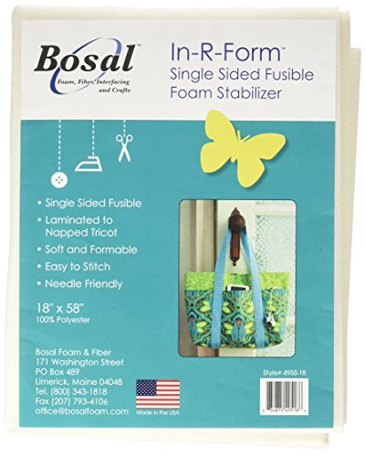 Bosal R Form Sew in Fusible Stab Wht Foam Stabilizer Fuse 58x18 White, 18x58