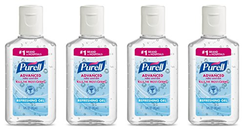 Purell Advanced Hand Sanitizer Gel 1 OZ Travel Size (4 Pack)