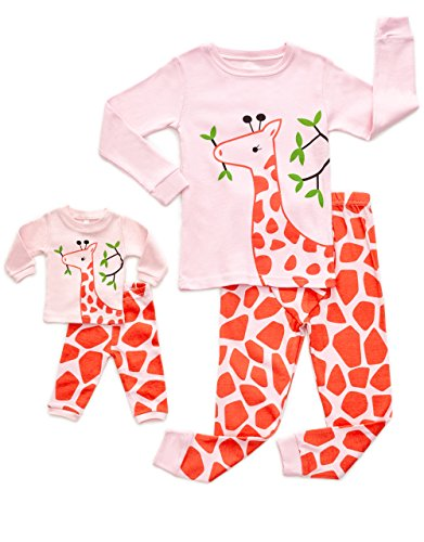 DinoDee Matching Doll Giraffe Pajama 4 Years