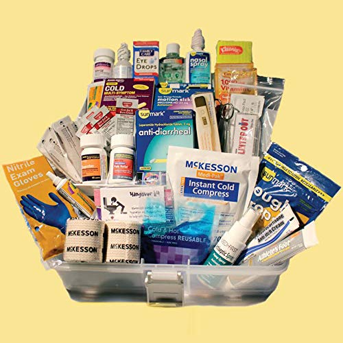 The College Student First Aid Kit- created by a college clinic nurse practitioner-The Preferred Graduation-Dorm-College gift. Makes College life Healthier, Safer, and Smarter!