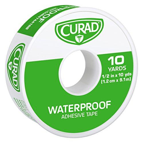 Curad Waterproof Adhesive Tape, 1/2 inch x 10 yards (Pack of 6)
