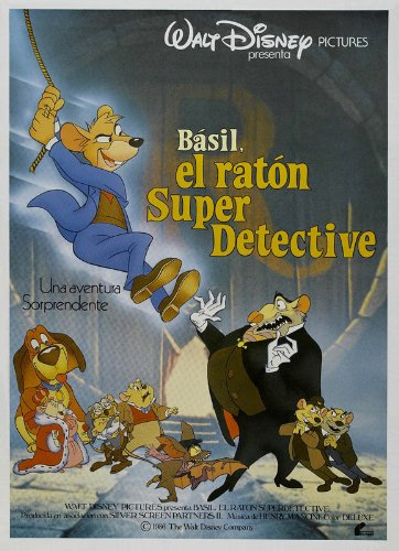 The Great Mouse Detective Movie Poster (27 x 40 Inches - 69cm x 102cm) (1986) Spanish Style B -(Vincent Price)(Barrie Ingham)(Val Bettin)(Susanne Pollatschek)(Candy Candido)(Eve Brenner)