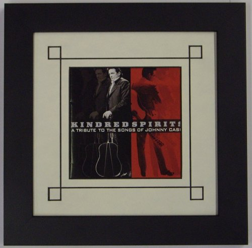 CD Frame/CD Booklet Frame Featuring White Mat Design with Solid Wood Black Frame-Great for authgraphed cds and cd Artwork