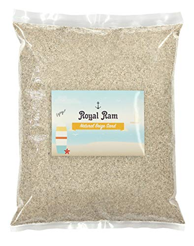 (5 Pounds) Natural Decorative Real Sand - Beige - for use in Crafts, Decor, Vase Filler, Aquariums and More!