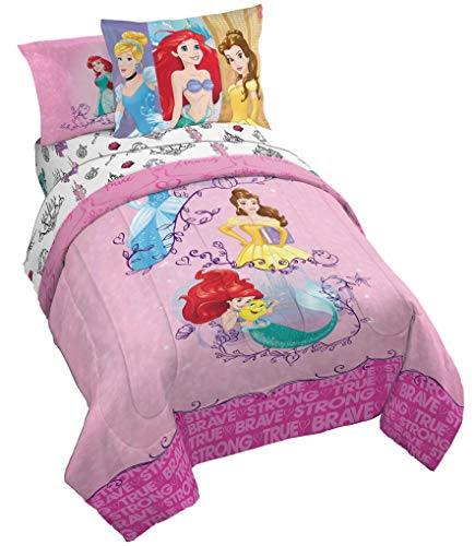 Jay Franco Princess Friendship Adventures 5 Piece Twin Bed Set (Offical Disney Product)