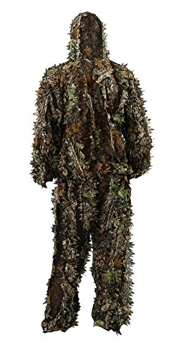 Zicac Outdoor Camo Ghillie Suit 3D Leafy Camouflage Clothing Jungle Woodland Hunting