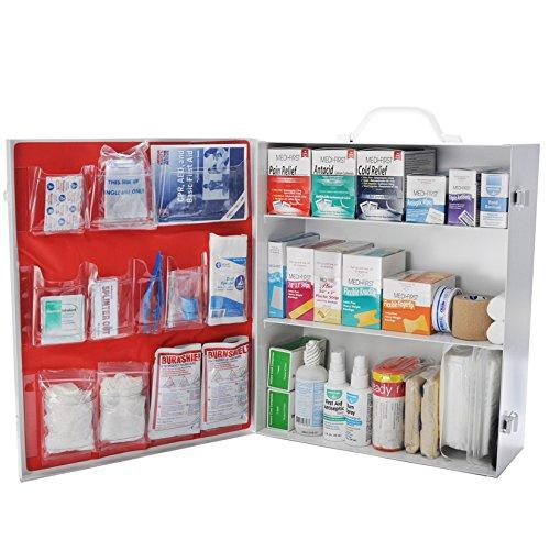 Osha First Aid Kit Class B Fill 3 Shelf Metal Kit