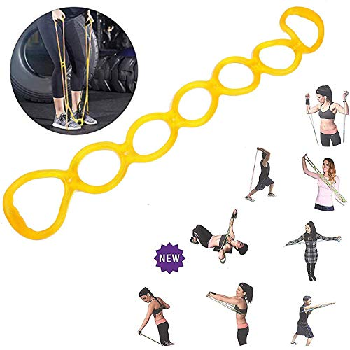 7 Ring Stretch and Resistance Exercise Band for Back, Foot, Leg, and Hand Stretcher, Arm Exerciser (01)