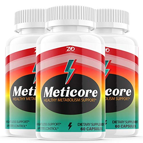 (3 Pack) Meticore Weight Management Pills, Medicore Manticore Pills Metabolism Supplement Booster - Healthy Energy Support Boost Metabolism Burn Fat Keto Diet BHB - Natural (180 Capsules)