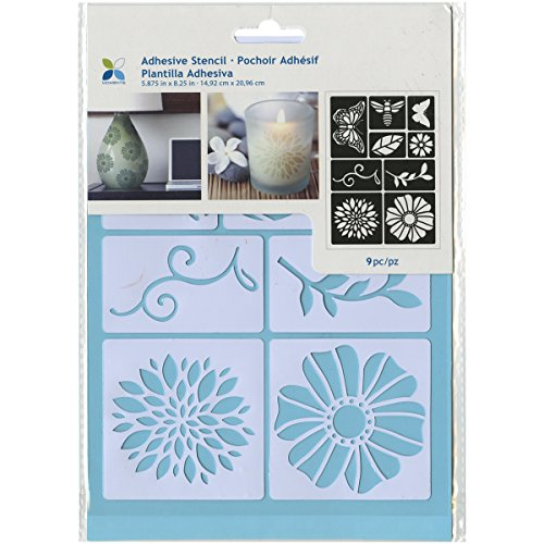 Momenta ST-252-25232 Adhesive Stencil, 6' by 8', Flowers and Bugs