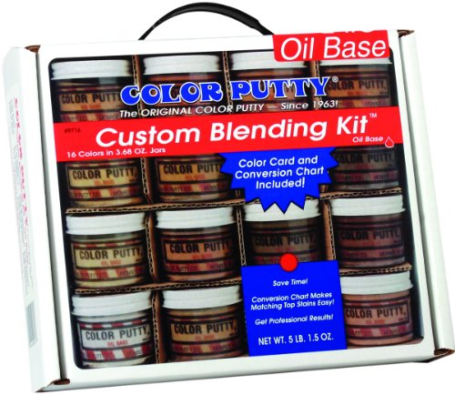 Color Putty Company 9716 09716 Putty Blend Kit 16 Colors 3.68 Ounce Jars, 3.68-Ounce, Assorted