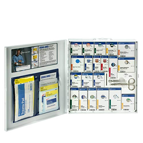 First Aid Only 50 Person Large Metal SmartCompliance Cabinet with Medications, ANSI/OSHA (746000)