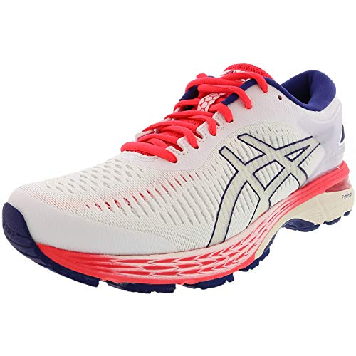 ASICS Women's Gel-Kayano 25 Running Shoes, 9M, White/White