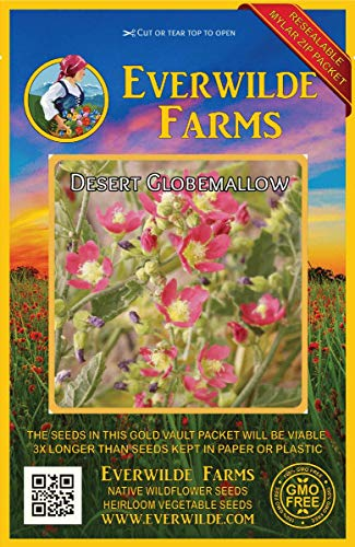 Everwilde Farms - 1000 Desert Globemallow Native Wildflower Seeds - Gold Vault Jumbo Seed Packet