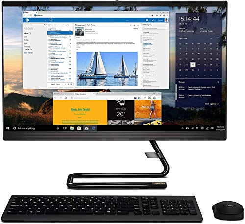 Lenovo IdeaCentre A340 23.8' FHD Touchscreen All-in-One AIO Desktop Computer, Intel Quad-Core i3-9100T (Beats i5-7400t), 8GB DDR4, 256GB PCIe SSD, DVD-RW, Windows 10, TWE Mouse Pad