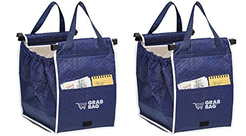 Insulated Reusable Grab Bag Grocery Shopping Tote Holds Up To 40 lbs (2)