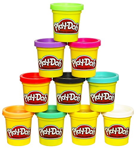 Play-Doh Modeling Compound 10 Pack Case of Colors, Non-Toxic, Assorted Colors, 2 Oz Cans, Ages 2 & Up, (Amazon Exclusive), Multicolor