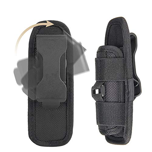 Tactical Flashlight for Holster - Pouch Case with 360 Degrees Rotatable Clip Long Type,Duty Belt Torch Holder Nylon