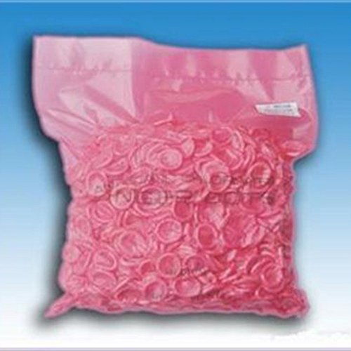 Pink Natural Latex Rubber Finger Cots Powder-Free Touch Screen Compatible (100/Pack)