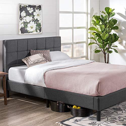 Zinus Lottie Upholstered Platform Grey Bed Frame   Model   Twin