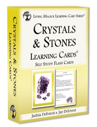 Crystals & Stones Learning Cards - Living Magick Learning Card Series - Self Study Flash Cards