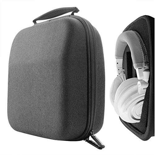 Geekria UltraShell Headphone Case for Pioneer HDJ-2000, Panasonic RP-DH1200, ATH-M70X, ATH-M60X, ATH-M50X, ATH-T400, Roland RH-300V Headphones, Replacement Large Hard Shell Travel (Dark-Gray)