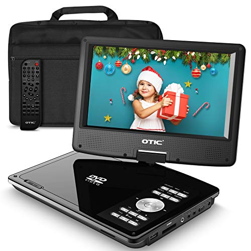 OTIC10.6''Bluetooth Portable DVD Player with 9.0''HD Swivel Screen,5h Rechargeable Battery for Car&Kids, (Headrest Mount Case&Headphone,Remote Control,Support CD/DVD/SD Card/USB/Sync TV,Region Free )